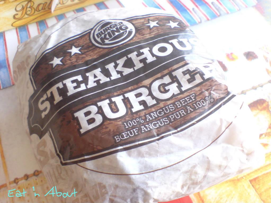 BK Mushroom Swiss Steakhouse Burger