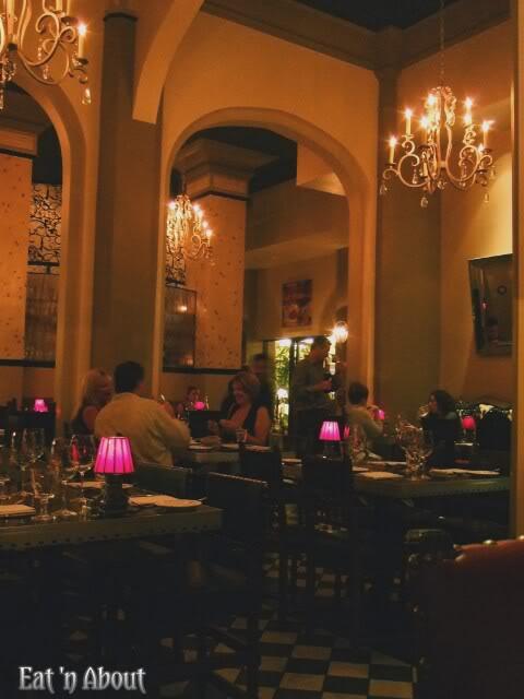Currant American Brasserie interior