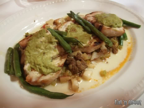Currant American Brasserie: Grilled Harpooned Swordfish